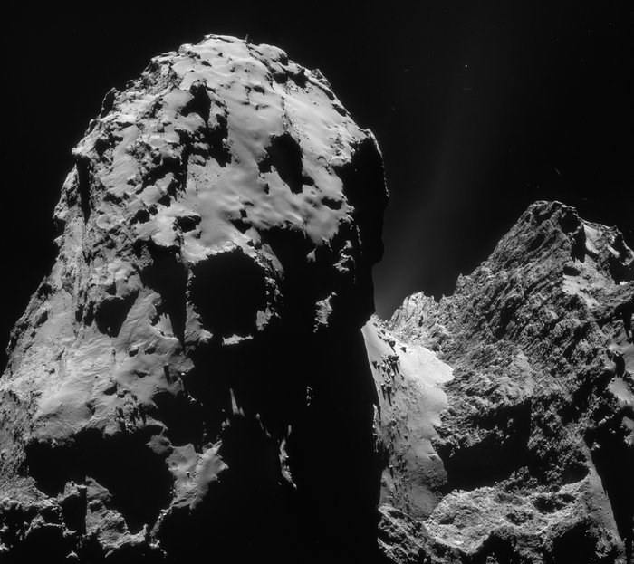 Rosetta's navcam image of 67P, copyright ESA/AOES Medialab